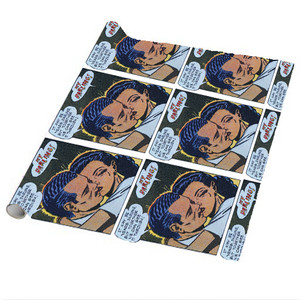Afrotopia Wrapping Paper Sheets - Vintage Romance 14 - Package Of 5