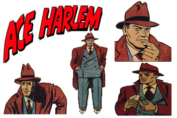 Vintage Black Heroes Sticker Sheet - Ace Harlem - 1