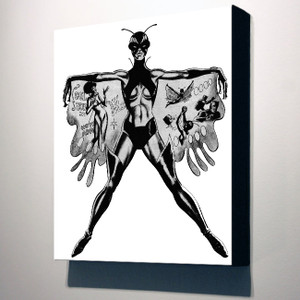 Vintage Black Heroines 10x8 Canvas - The Butterfly - 1a