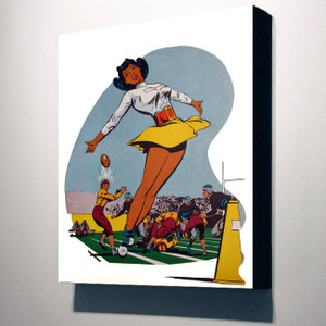 Afrotopia 10x8 Canvas - Vintage Cheerleader