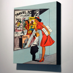 Afrotopia 32x24 Canvas - Vintage Travel Agency
