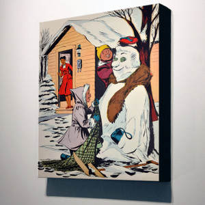 Afrotopia 32x24 Canvas - Vintage Snow Man