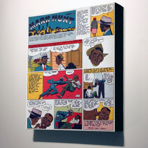 Vintage Black Heroes 32x24 Canvas - Mark Hunt - 4