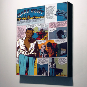 Vintage Black Heroes 24x20 Canvas - Mark Hunt - 6A