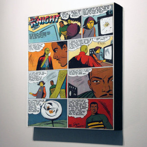 Vintage Black Heroes 32x24 Canvas - Neil Knight - 3