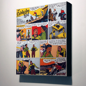 Vintage Black Heroes 32x24 Canvas - The Chisholm Kid - 14