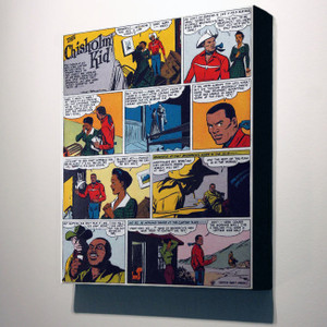 Vintage Black Heroes 24x20 Canvas - The Chisholm Kid - 2