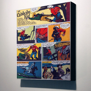 Vintage Black Heroes 24x20 Canvas - The Chisholm Kid - 4
