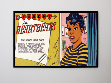 Vintage Black Heroines 24x32 Canvas - Torchy In Heartbeats - 3A