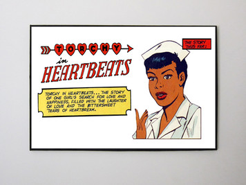 Vintage Black Heroines 12x14 Canvas - Torchy In Heartbeats - 1A