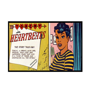 Vintage Black Heroines Invitations - Torchy In Heartbeats - 3A - Package Of 10