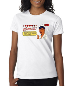 Vintage Black Heroines Women's T-Shirt - Torchy In Heartbeats - 1A - White
