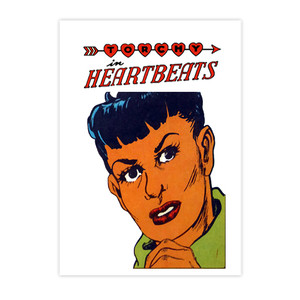 Vintage Black Heroines Invitations - Torchy In Heartbeats - 2 - Package Of 10