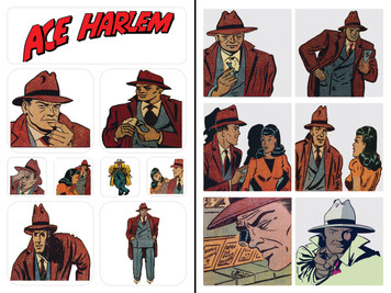 Vintage Black Heroes Sticker Sheet Set - Ace Harlem - 1