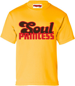 SuperBad Soulware Girls T-Shirt - Soul Princess - Gold - RBR