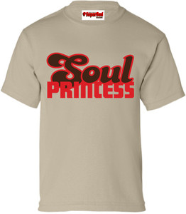 SuperBad Soulware Girls T-Shirt - Soul Princess - Sand - RBR