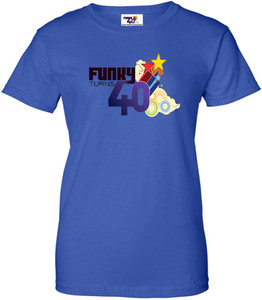 Funky Turns 40 Women's T-Shirt - Royal Blue