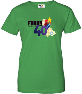 Funky Turns 40 Women's T-Shirt - Irish Green