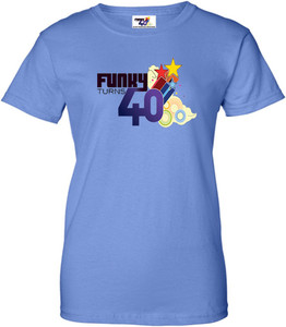 Funky Turns 40 Women's T-Shirt - Iris