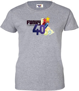 Funky Turns 40 Women's T-Shirt - Grey