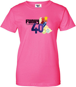 Funky Turns 40 Women's T-Shirt - Pink