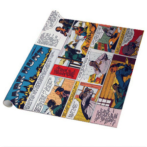 Vintage Black Heroes Wrapping Paper Sheets - Mark Hunt - CST3 - Package Of 5