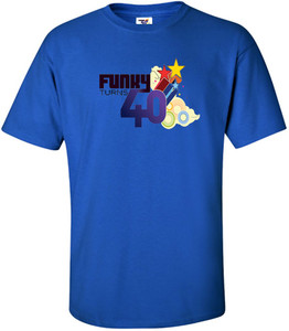 Funky Turns 40 Men's T-Shirt - Royal Blue