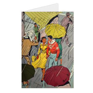 Afrotopia Greeting Cards - Vintage Rain - Package Of 10