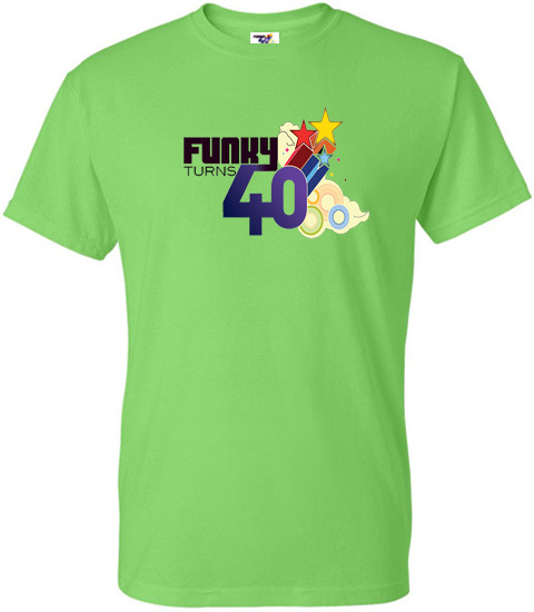afb4191d Funky Turns 40 Men's T-Shirt - Lime Green - Museum Of UnCut Funk Store