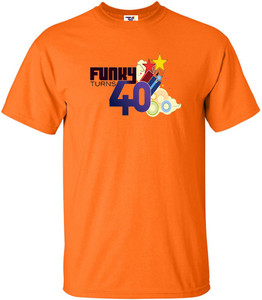 Funky Turns 40 Men's T-Shirt - Orange