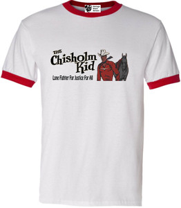 Vintage Black Heroes Men's T-Shirt - The Chisholm Kid - 2 - Red Ringer