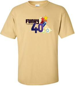 Funky Turns 40 Men's T-Shirt - Tan