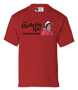 Vintage Black Heroes Boys T-Shirt - The Chisholm Kid - 1 - Red