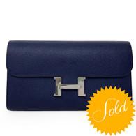 Hermès Bleu Sapphire Constance Wallet