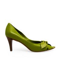 Ferragamo Green Bow Heels