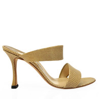 Manolo Blahnik Tan Lizard Heels