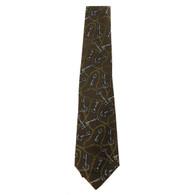 Chanel Key Print Tie