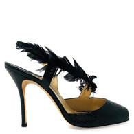 Manolo Blahnik Feather Heels
