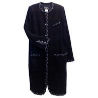 Chanel Navy Tweed Coat