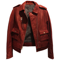 Zadig + Voltaire Red Moto Jacket