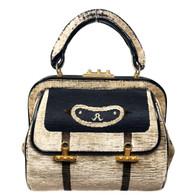 Roberta di Camerino Beige Velvet Handbag