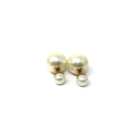 Dior Pearl Tribal Earrings