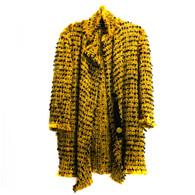 Lanvin Yellow Tweed Coat
