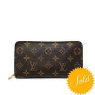 Louis Vuitton Monogram Zip Wallet