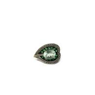 Quartz Leaf Ring