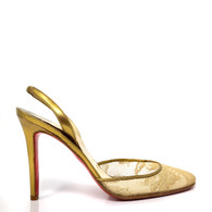 Louboutin Gold Lace Heel