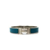 Hermès Teal Clic H Bracelet