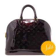 Louis Vuitton Burgundy Alma Handbag