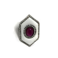 Garnet Enamel Ring