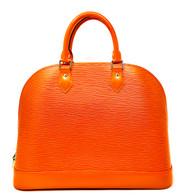 Louis Vuitton Orange Alma Handbag